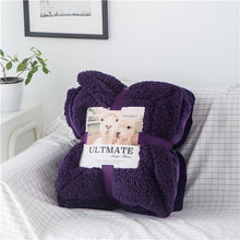 Load image into Gallery viewer, Luxurious Large Warm Sherpa Throw Blanket