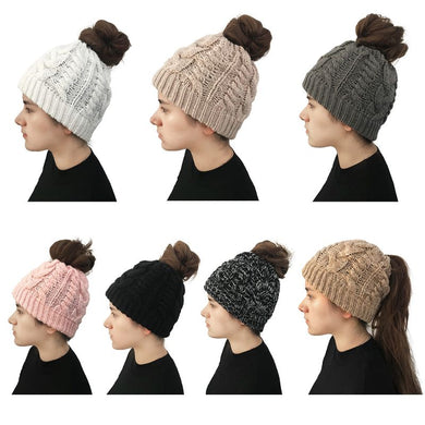 Braided Ponytail Beanie