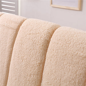 Faux Lambswool Fleece Headboard Cover