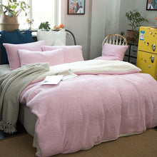 Load image into Gallery viewer, Thick Double sided Faux Lambswool Fleece Bed Set - Many Colours