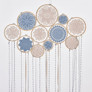 DIY Large Doily Lace Dream Catcher
