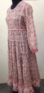 Pink Flamingo Indian Dress Back Tassels