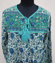 Load image into Gallery viewer, Olive Indian Blouse