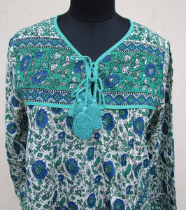 Olive Indian Blouse