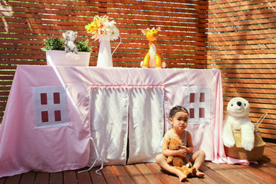 Pretty in Pink Tablecloth Playhouse