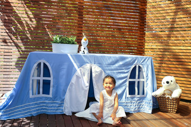 Frozen Inspired Ice Castle Tablecloth Playhouse