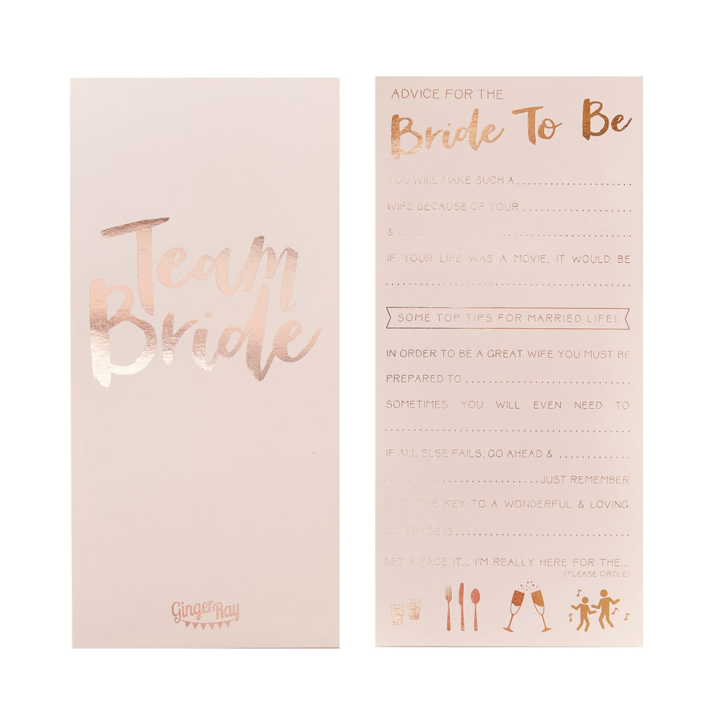 pink gold advice cards team pack of 10 sweet