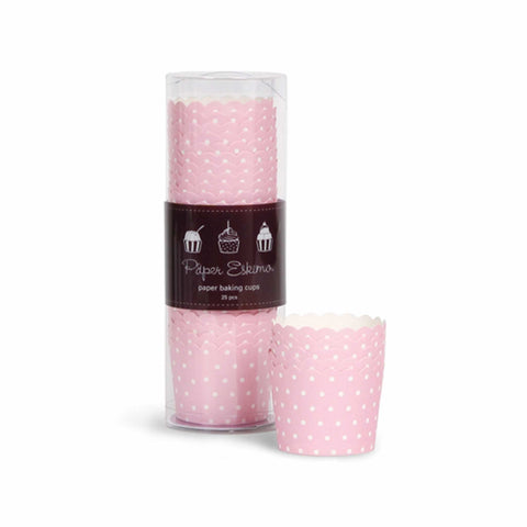 Pink Dot Baking Cup (6 pack)