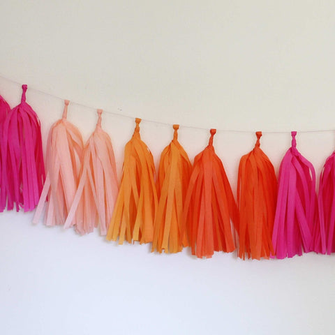 Tissue Tassel Garland Kit- Bright