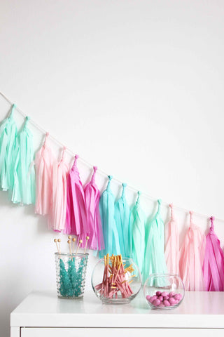 Tissue Tassel Garland Kit- Candy Shoppe