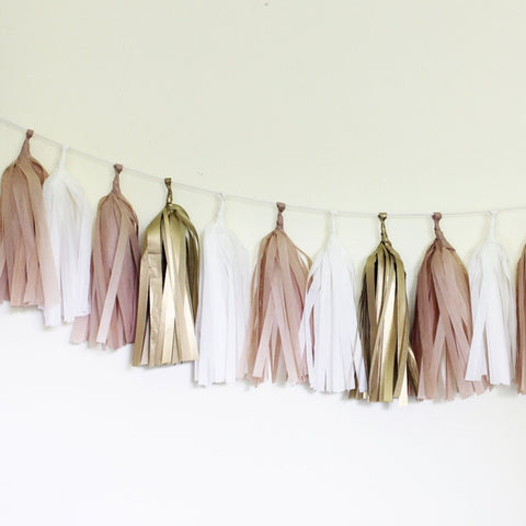 Tissue Tassel Garland Kit- Golden