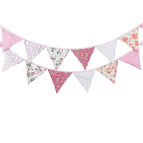 Pink Floral Bunting