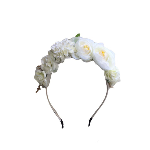 Ivory Floral Crown – Headband