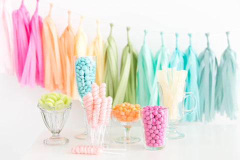 Tissue Tassel Garland Kit- Rainbow