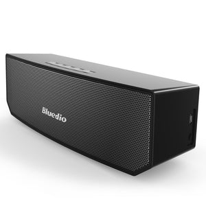 Bluedio BS-3 Portable Bluetooth Wireless Stereo Speaker with Mic for Calls and 3D 3D Stereo Music Surround Sound (Black)