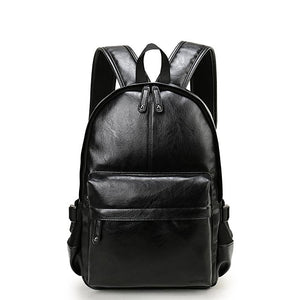 Preppy Style Leather School Backpack Bag For College Simple Design Men Casual Daypacks mochila male New