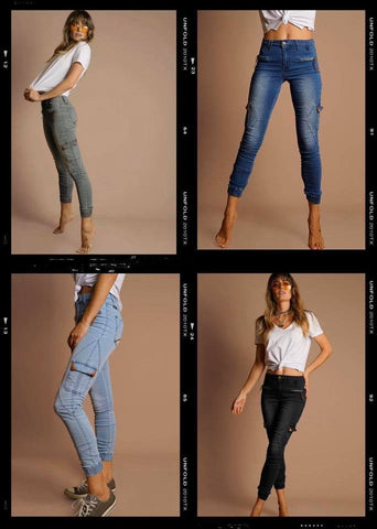 Shop Jean joggers at Milk Fashion