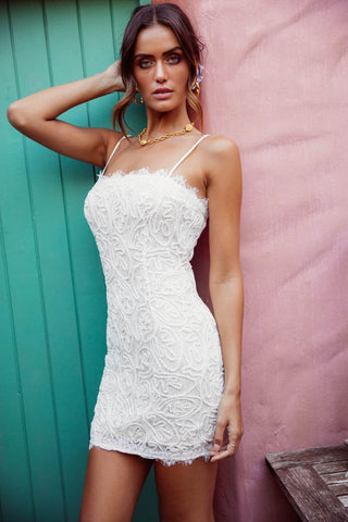 Nakoda White Lace Mini Dress