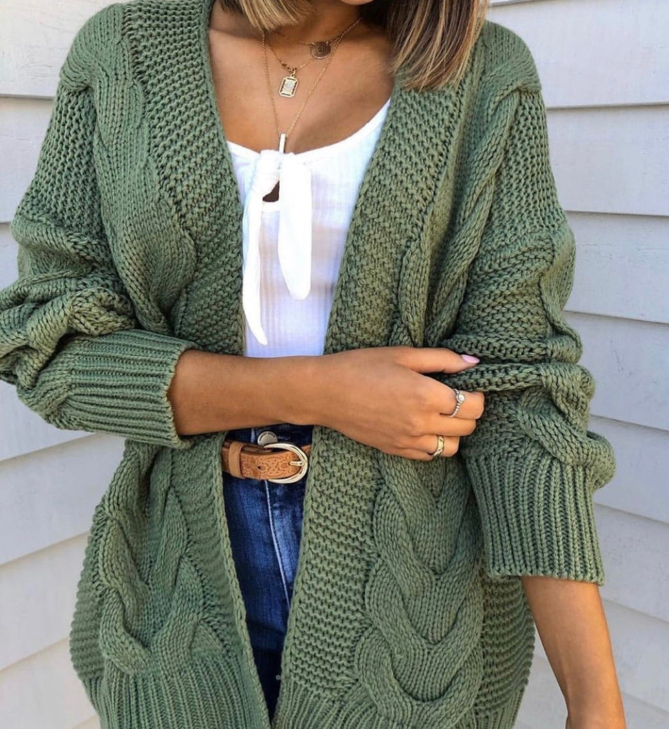 Twist It Cable Cardi