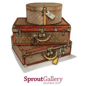 Old designer suitcases and hat boxes...