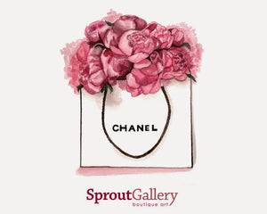 Chanel and peonies. Peonies and Chanel.