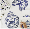 Blue and white porcelain 'fish' Mings