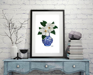 More magnolias. More blue and white...