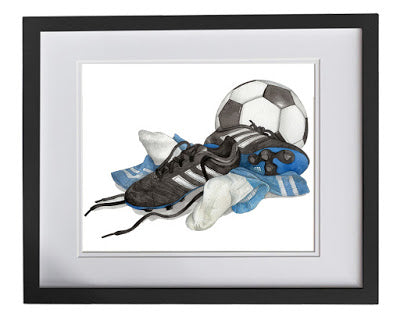 Sports artwork for childrens room