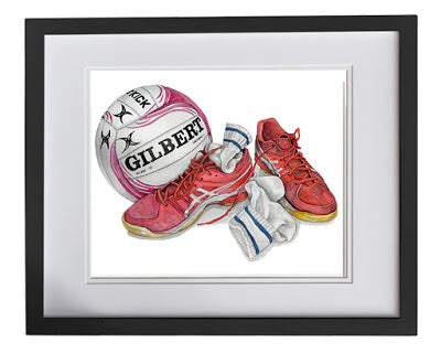 Netball print for kids rooms