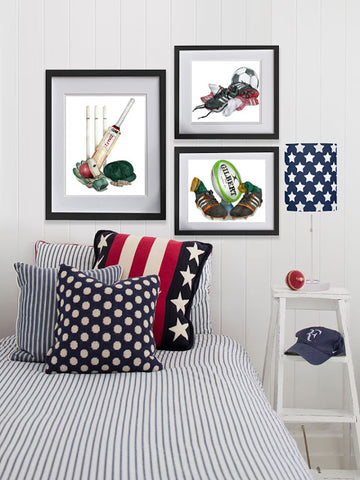 Sport prints for kids rooms
