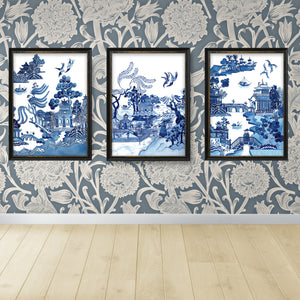 Print of popular Spode Willow design with a slight twist on the design