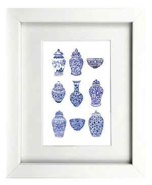 Print of blue and white ginger jar favourites