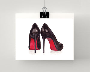 Print of Christian Louboutin shoe