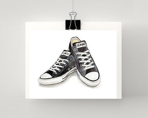 Print of Converse All Star Sneakers