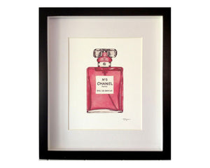 Print of Chanel No 5 perfume