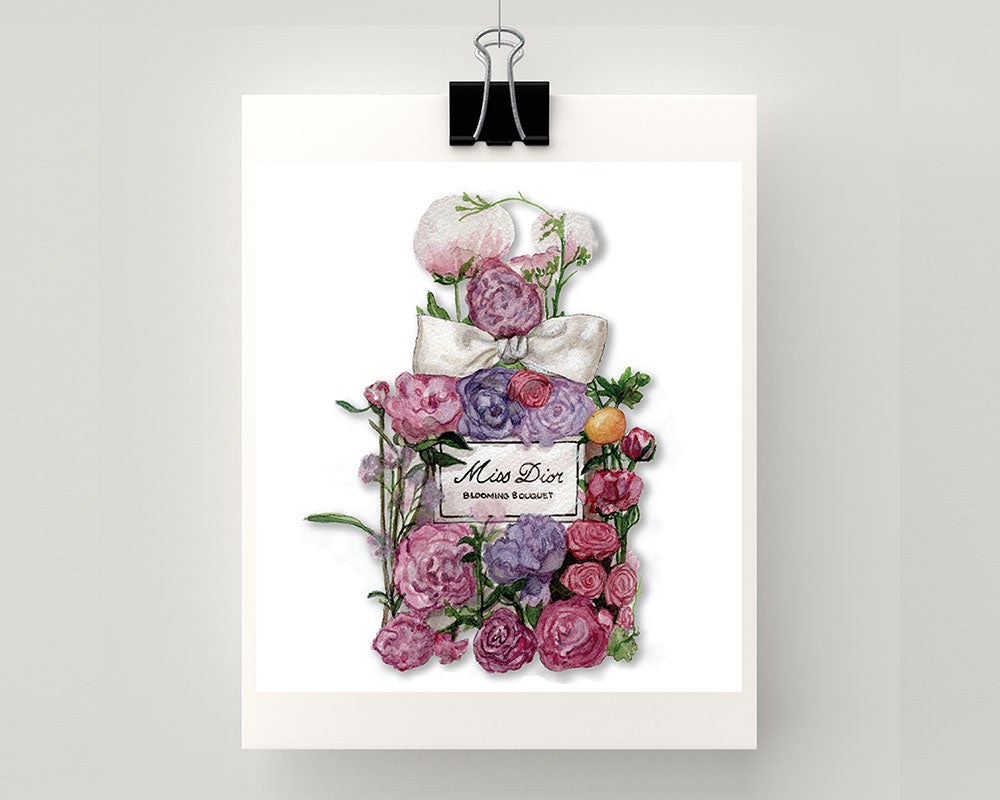 c0042847b Print of Miss Dior with flowers - Sprout Gallery