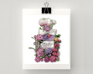 Print of Miss Dior with flowers
