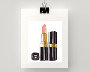 Print of Chanel pale pink lipstick