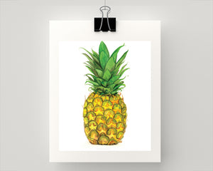 Print of a summer pineapple