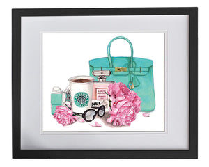 Print of Breakfast and Tiffany's with Chanel