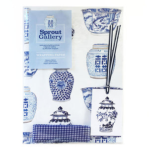 Bespoke blue and white ming jar wrapping kit