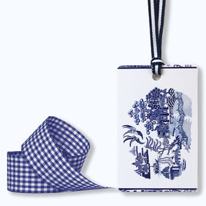 Bespoke blue and white Willow design wrapping kit