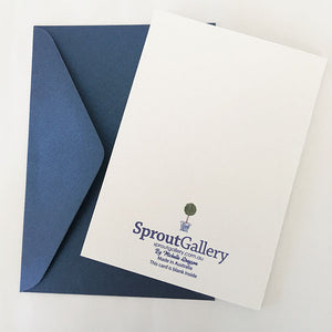 Blue and white elephant Gift Card