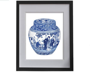 Print of gorgeous Booths ginger jar