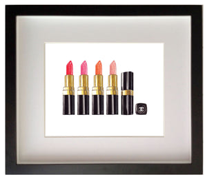 Print of Chanel lipsticks in a row