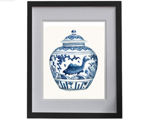 Print of blue and white porcelain 'fish' Ming Dynasty, Jiajing Period