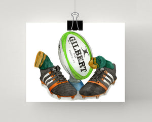 Rugby Union football painting print