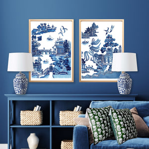 Print of popular blue and white new Willow design