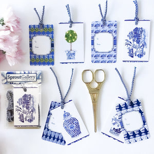Bespoke chinoiserie swing tag set