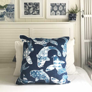 Koi Fish Cushion Cover